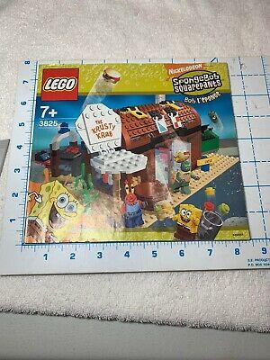 Lego 3825 Sponge bob Square pants Krusty Krab INSTRUCTION MANUAL W PARTS LIST