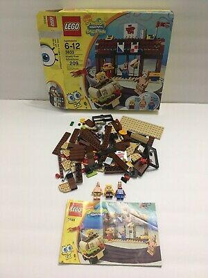 LEGO Spongebob 3833 Krusty Krab Adventures Complete w/ Manual Minifigures Box
