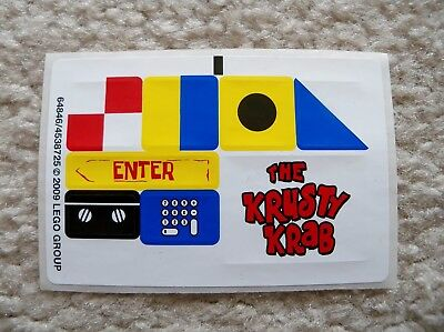 LEGO Spongebob Squarepants - New Sticker Sheet - 3833 The Krusty Krab