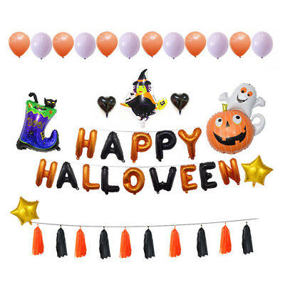 Neweat Giant Halloween Pumpkin Ghost Foil Balloon Home Festival Party Decoration