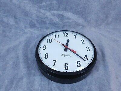 "Vintage Lathem 12"" School Slave Clock Electric Hanging"