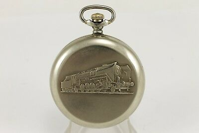 Vintage Pocket Watch Molnia Locomotive Train Railroad 1970's