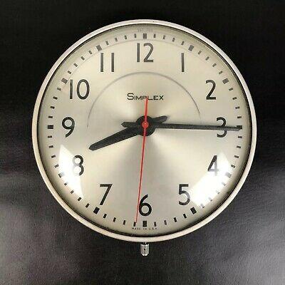 Vintage Simplex Art Deco School Clock Model 507-049