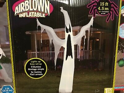2014 Giant 15 FOOT GHOST ~ HALLOWEEN INFLATABLE ~ NEW ~ $199.99 ~ Only One ~
