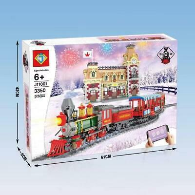 3350 pcs J11001 DIsneyed Train And Station Compatible 71044 Building Bricks