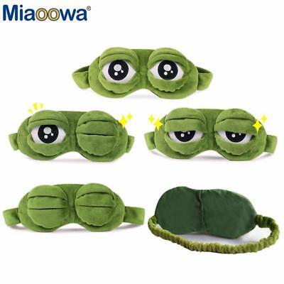 Creative Pepe The Frog Sad Frog 3d Eye Mask Cartoon Plush Sleeping Mask Gift