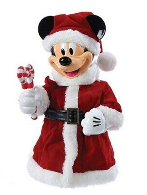 Disney Santa Mickey Mouse with Bendable Arms Christmas Tree Topper Decoration