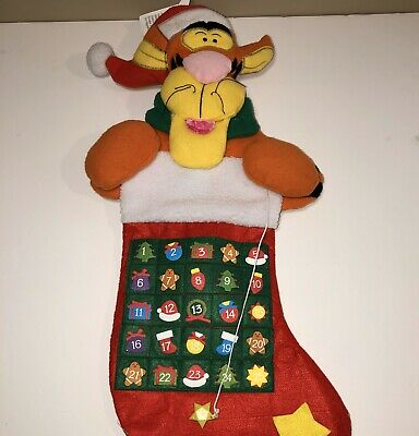 "DISNEY Winnie The Pooh GEMMY ""TIGGER"" Interactive Advent Calendar Stocking"
