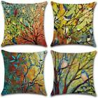 Dusen Decorative Cotton Linen Set Of 4 Throw Pillow Cushion Covers 18 X 18 Inch