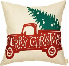 Fahrendom Rustic Christmas Farmhouse Home Décor Vintage Red Truck With Tree Sig