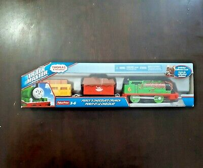 Fisher-Price Thomas and Friends Trackmaster Percy's Chocolate Crunch Train New.