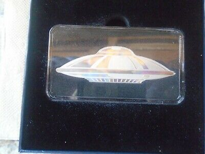 for sale is a 1oz silver in the forum of a space ship real nice