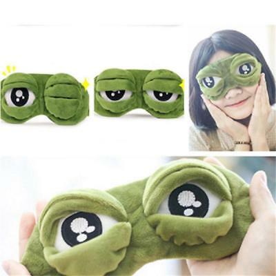 Funny Pepe Sad Frog 3D Adjustable Eye Mask Cover Sleeping Eyepatch Xmas Toy Gift