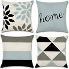 Jojusis Modern Geometric Throw Pillow Covers Cotton Linen Home Decor 18 X 18 Inc
