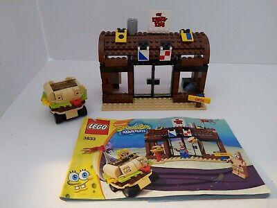 Lego Nickelodeon SpongBob Squarepants 3833 Krusty Krab Adventures Partial w/Inst