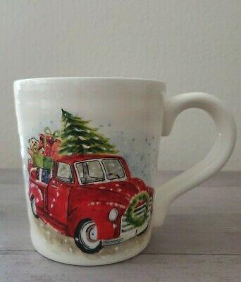 NEW Maxcera Christmas Tree Red Truck with Presents Coffee Tea Mug Holiday Decor
