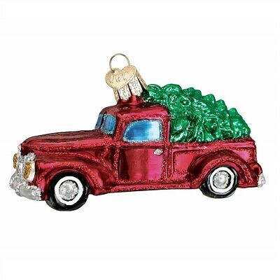 Old World Christmas Old Truck With Tree Glass Ornament FREE BOX 46029 New