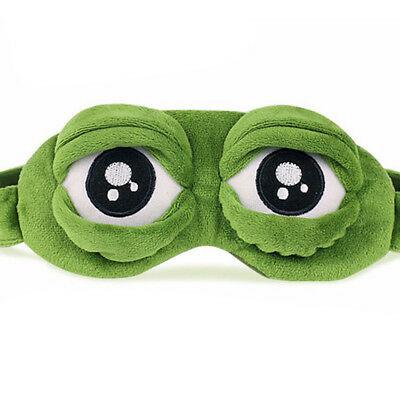 Pepe The Frog Sad Frog 3D Eye Mask Cover Sleeping Rest Sleep Anime Funny Gift ha