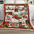 Red Truck With Christmas Tree Sofa Fleece Blanket 50x60x80 Mothers Day Gift