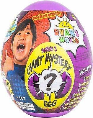 RYAN'S WORLD Giant Mystery Purple Egg Series 3 Surprise Ryans Egg New&Sealed