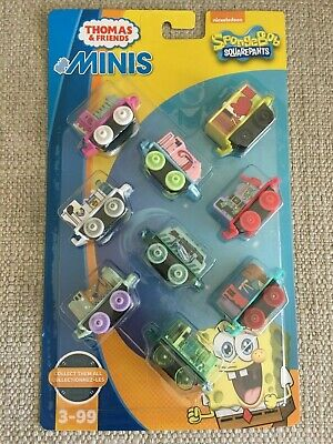 Thomas and Friends MINIS NEW Package of 9 SpongeBob Squarepants Trains