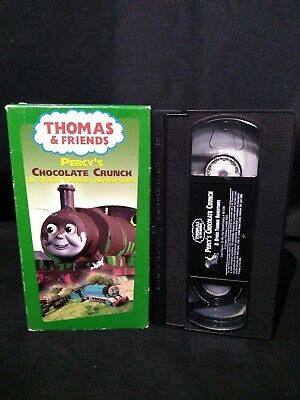 Thomas The Tank Engine and Friends Percy's Chocolate Crunch VHS Very Good