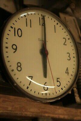 "Vintage 14"" Simplex Industrial School Office Clocks model 7745 Synchron 804-009"