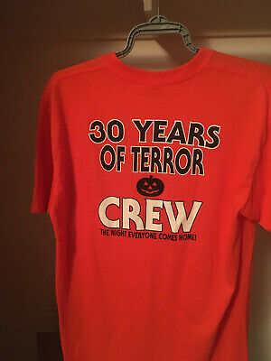 30 YEARS OF TERROR CREW SHIRT HALLOWEEN MICHAEL MYERS CONVENTION XL