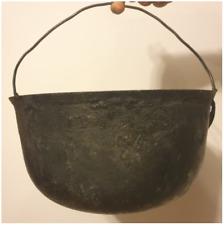 Antique Cast Iron Dutch Oven Pot - Vintage Camping Pot Kettle With Handle