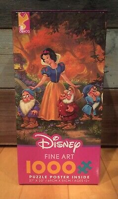 Ceaco Disney Fine Art Among Friends Snow White Seven Dwarfs Dopey 1000pc Puzzle