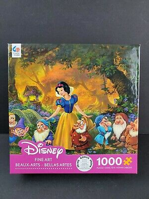 Ceaco Disney Fine Art Snow White 7 Dwarves Among Friends Puzzle 1000 Complete