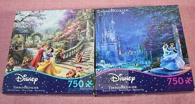 Ceaco Disney Thomas Kinkade: Cinderella & Snow White Starlight Puzzle 750pc