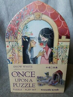 "Crocodile Creek Snow White ""Once Upon a Puzzle"" Jigsaw and Play Set / NEW SEALED"