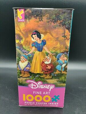 Disney Ceaco Fine Art 1000 Jigsaw Puzzle AMONG FRIENDS Snow White FREE SHIP