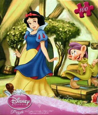 Disney Princess Snow White & Seven Dwarfs Jigsaw Puzzle 100 Piece Brand New NIB