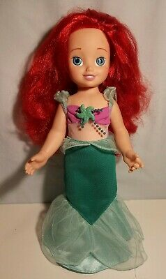"""Disney The Little Mermaid Ariel Doll Playmates Toys 2002 15"""" Removable Tail"""