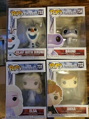 Elsa, Anna, Bruni, And Olaf With bruni FROZEN 2 731-734 FUNKO POP! FULL SET!