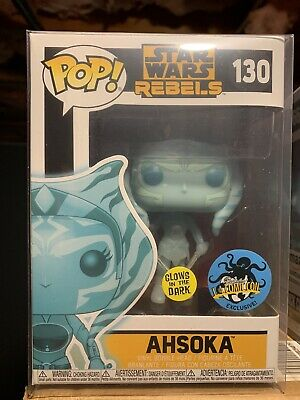 Funko Pop! Ahsoka Hologram Star Wars Rebels Hot Topic New Rare Gitd Glow New
