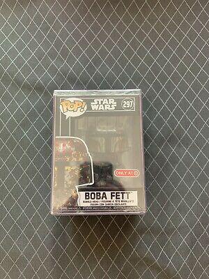 Funko Pop! Boba Fett Target Exclusive Star Wars #297 SEALED Hard Stack Futura