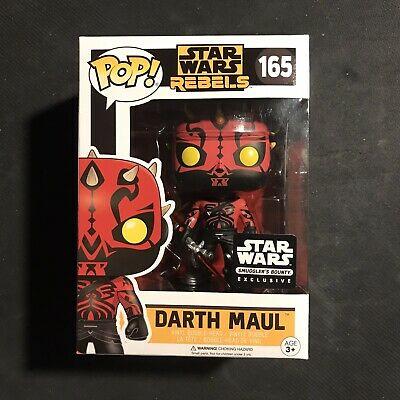 Funko Pop Darth Maul Star Wars Rebels (Smugglers Bounty Exclusive) 165 rare