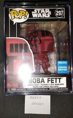 Funko Pop! Disney Star Wars Boba Fett WONDERCON STICKER 2020 + stack protector