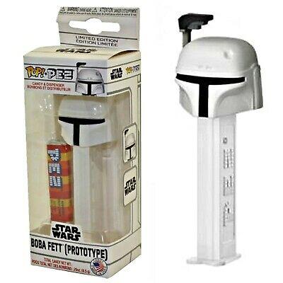 Funko POP! PEZ Star Wars Collectible Boba Fett Prototype White Candy Dispenser