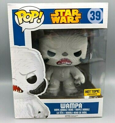 """Funko Pop! Star Wars #139 6"""" Wampa FLOCKED Hot Topic Exclusive Vaulted Rare"""