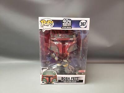 "Funko Pop! Star Wars 40th Ann. Target Exclusive 10"" Boba Fett NIB"