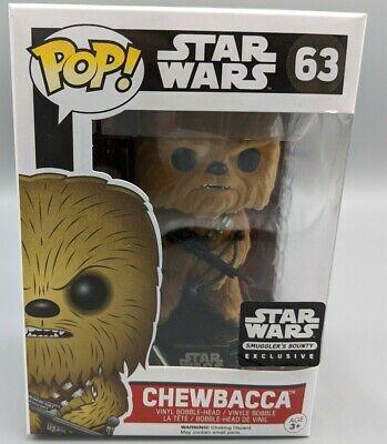 Funko POP! Star Wars #63 Chewbacca FLOCKED Force Awakens Smugglers Bounty Rare