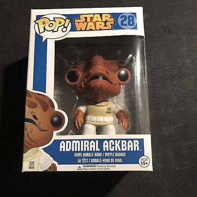 Funko Pop! Star Wars Admiral Ackbar #28 Vaulted Rare Blue Box New *IN HAND*