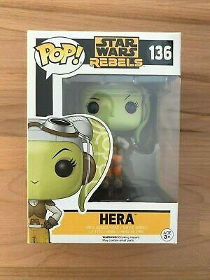 Funko Pop! Star Wars Rebels Hera #136 Rare Vaulted Vinyl Figure w/ Pop Protector