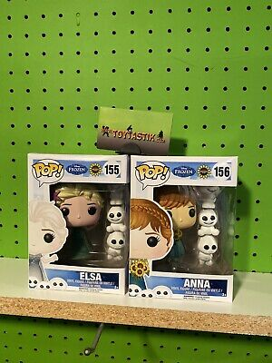 Funko Pop Vinyl Disney Frozen Fever Anna and Elsa Set of 2 Vaulted