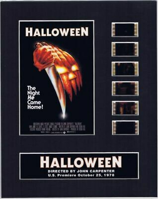 Halloween (1978) Authentic 35mm Movie Film Cell 8x10 Matted Display - w/COA