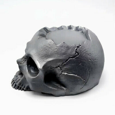 Halloween Silicone 3d Skull Mold Candlestick Diy Concrete Plaster Making Deco